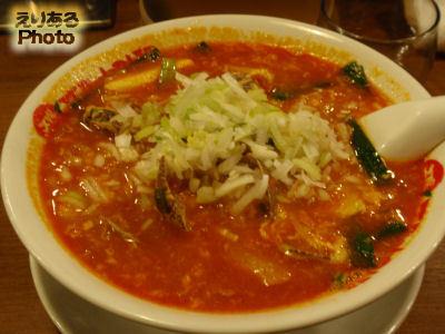 純豆腐麺(スンドゥブメン)@太陽のトマト麺 豊洲支店
