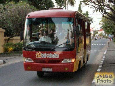 バリコレクションへのシャトルバス