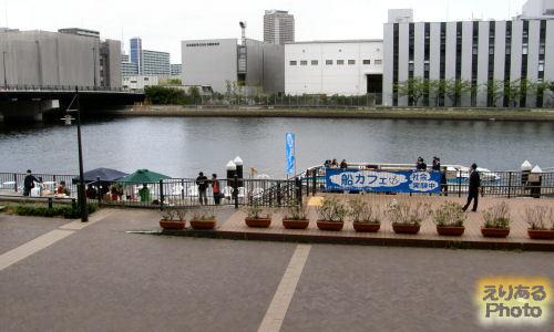 春の船カフェ+運河カフェ@豊洲運河船着場