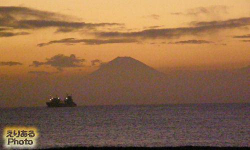 館山の夕焼け
