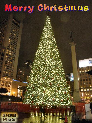 サンフランシスコ・ユニオンスクエアのクリスマスツリー