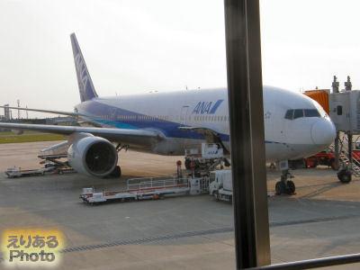 松山空港にて全日空機